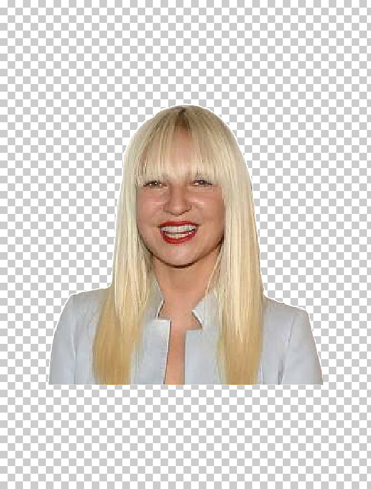 Sia Blond Bangs Chandelier Face, Face PNG clipart.