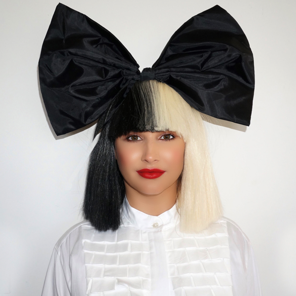 Official SIA Wig With Bow.