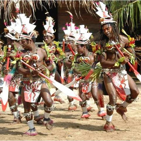 Papua New Guinea, Island Siassi traditional dancing styles.