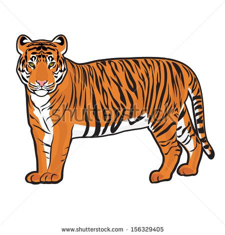 Siberian tiger clipart #2