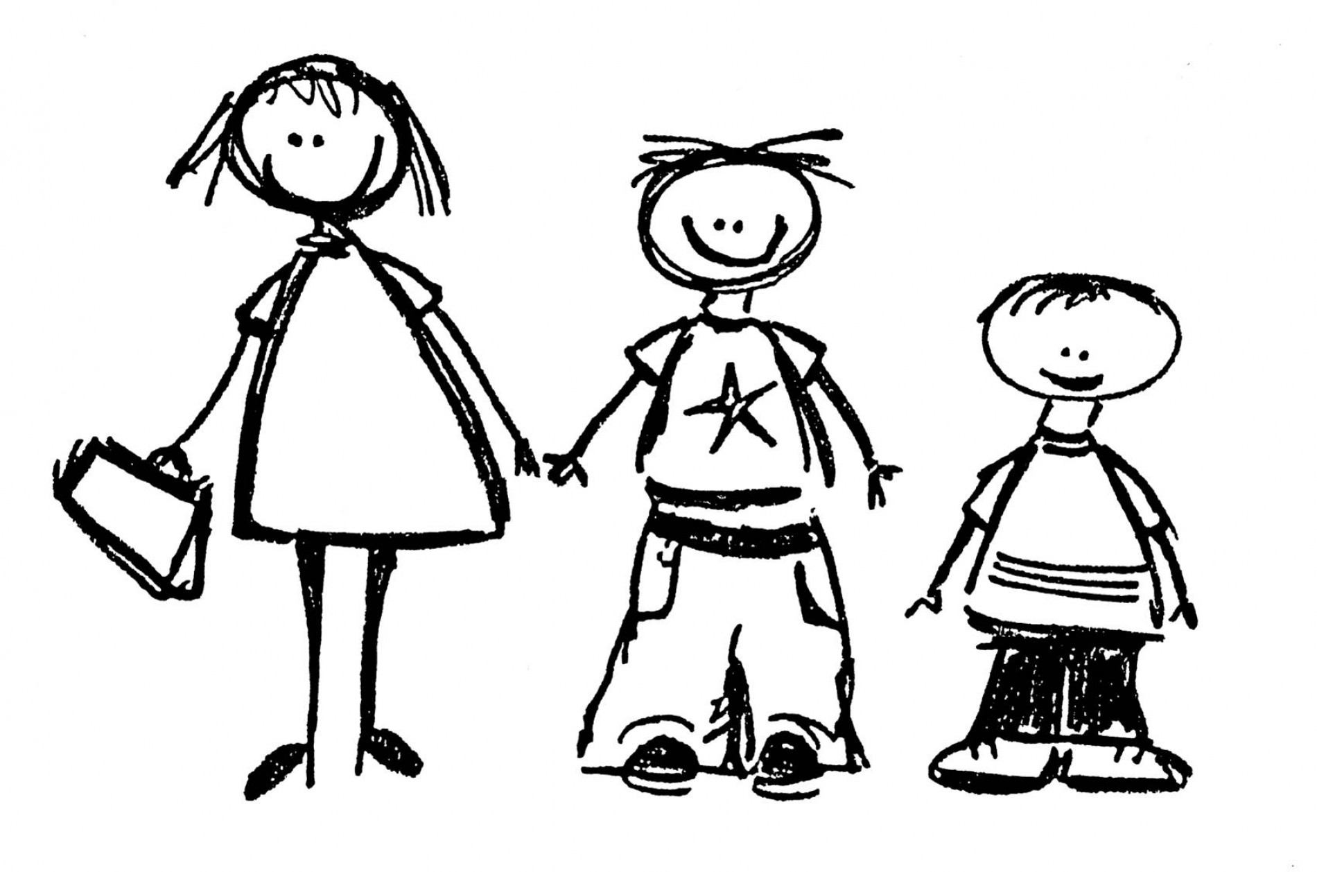 Siblings clipart