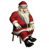 Weihnachtsmann In Sitzender Pose Sich Ausruhen Wall Sticker.