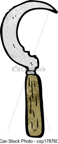 Clipart Vector of cartoon sickle csp17876057.