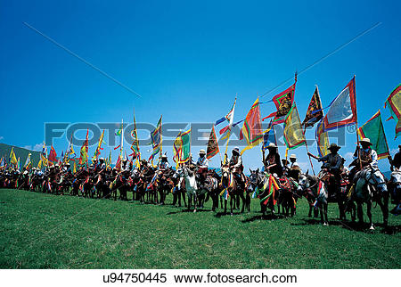 Stock Image of the Jak Festival in Hongyuan,Sichuan Province,China.