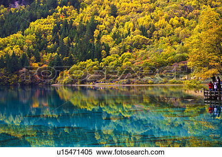 Stock Image of China, Sichuan Province, Nine Village Valley, Five.