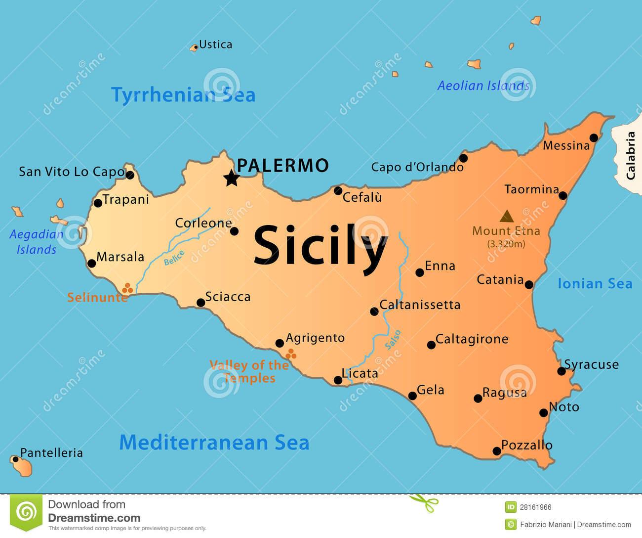 Sicily Stock Illustrations.