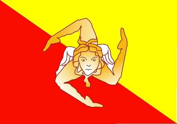Sicily Flag Clipart.