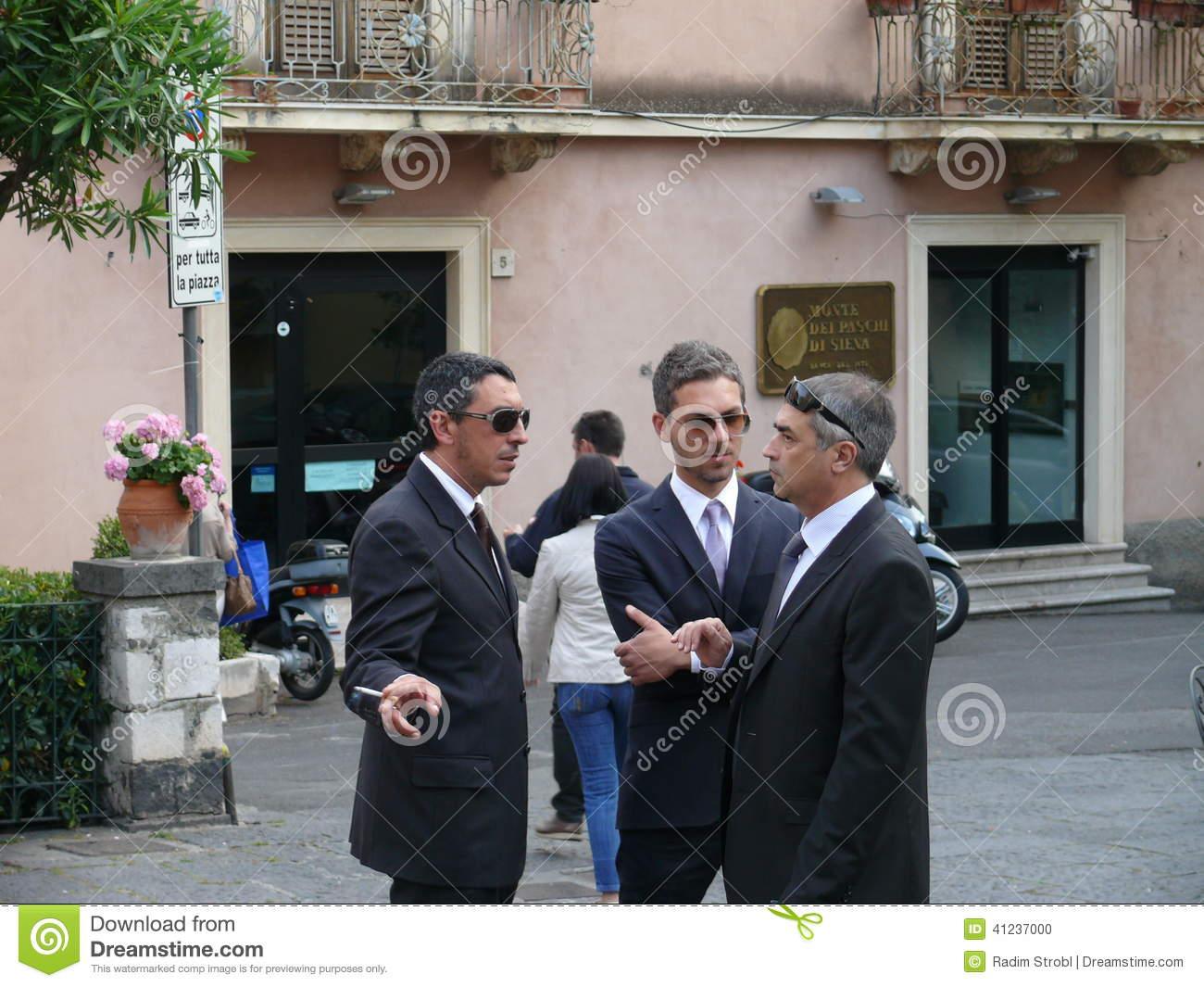 Sicilian Mafia Editorial Image.