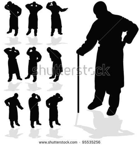 Sick Old Man Stock Images, Royalty.