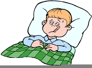 Sick In Bed Clipart Free.