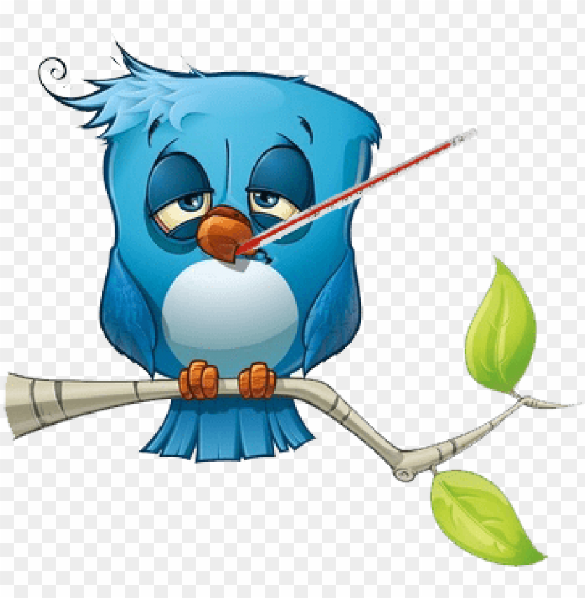 sick bird PNG image with transparent background.