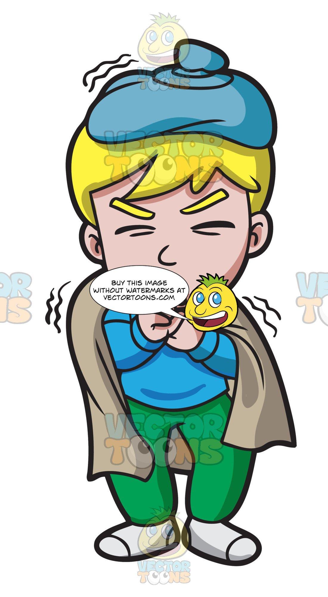 A Sick Boy With A Horrible Cough.
