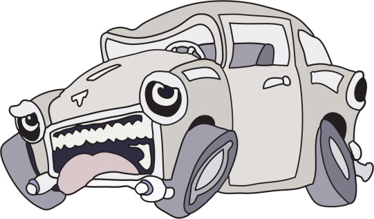 Sick car clipart.
