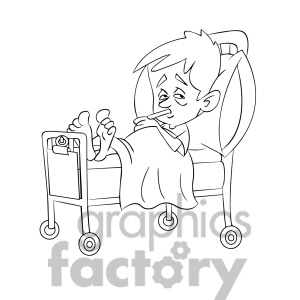Sick Child Clipart Black And White.