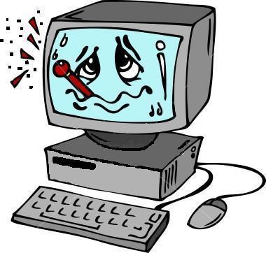 Sick Computer Clipart.