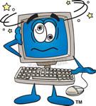 Cartoon Computer Clip Art.