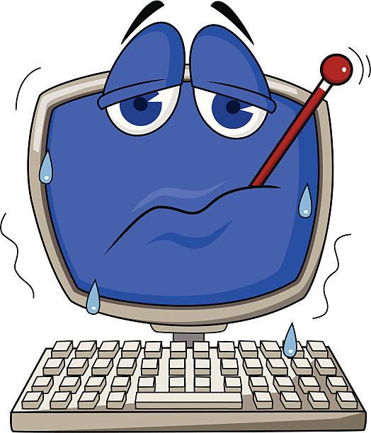 Sick Computer Clip Art, Vector Images & Illustrations.
