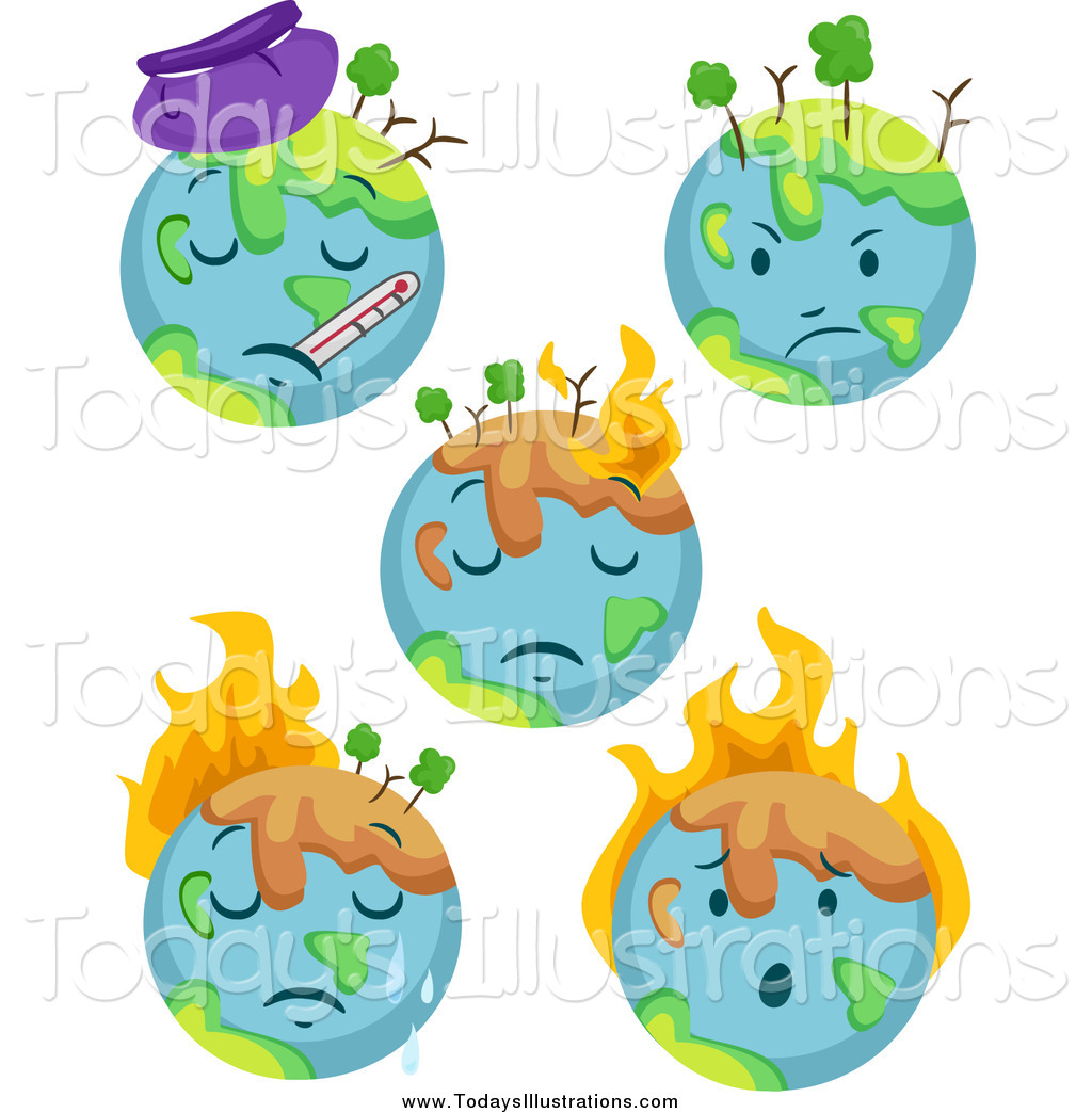 Sick Earth Clipart.