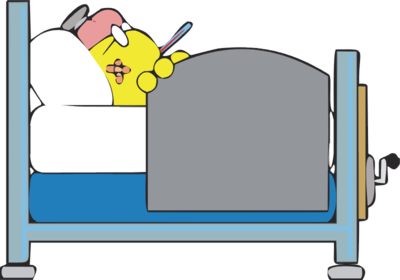 Image download: Sick in Bed.