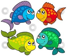 Funny cartoon fish vector free for download and ready for print.