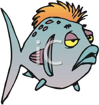 Sick Cartoon Fish.