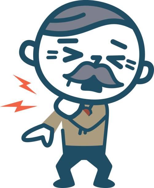 Cartoon Of Sick Old Man Clip Art, Vector Images & Illustrations.