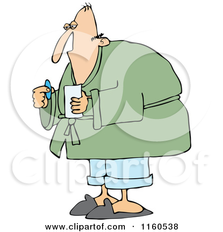 Sick Old Man Clipart.
