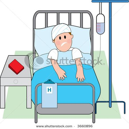 Picture Of A Sick Person In Bed.