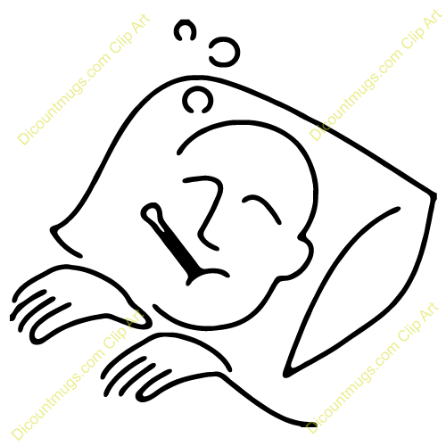 Sick Person In Bed Clipart.
