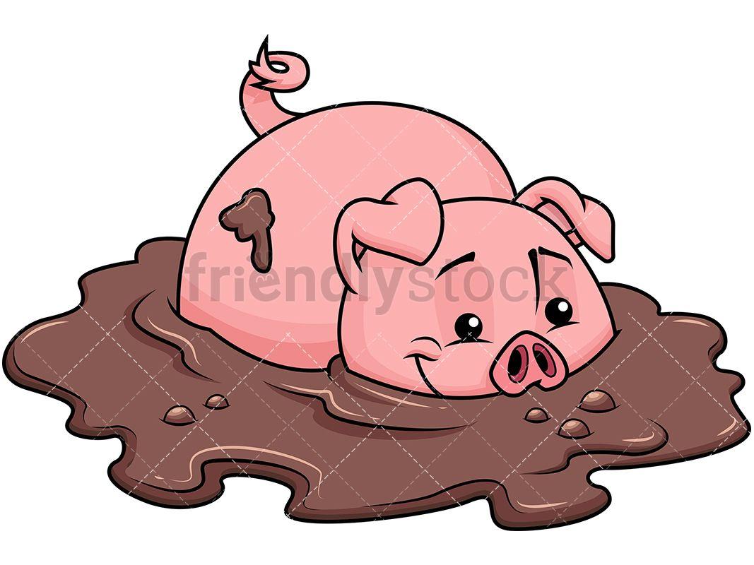 Farm Pig In Dirt.