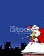 Sick Santa Claus Christmas Cartoon Illustration stock.