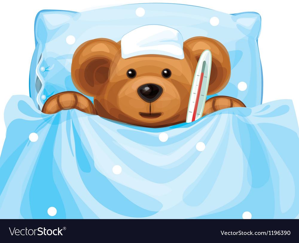 Sick baby bear.