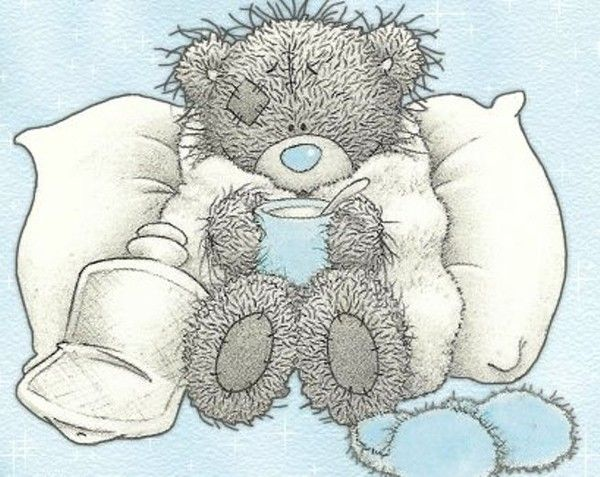 Teddy feelin\' sick.