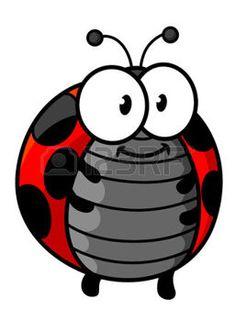 Ladybug Flying Clipart.