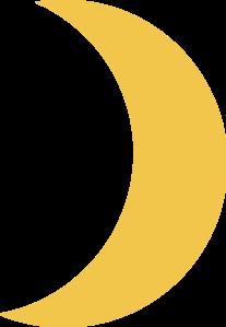 Crescent Moon Gold Clip Art at Clker.com.