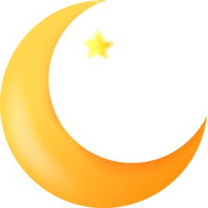 Crescent Moon Cartoon.
