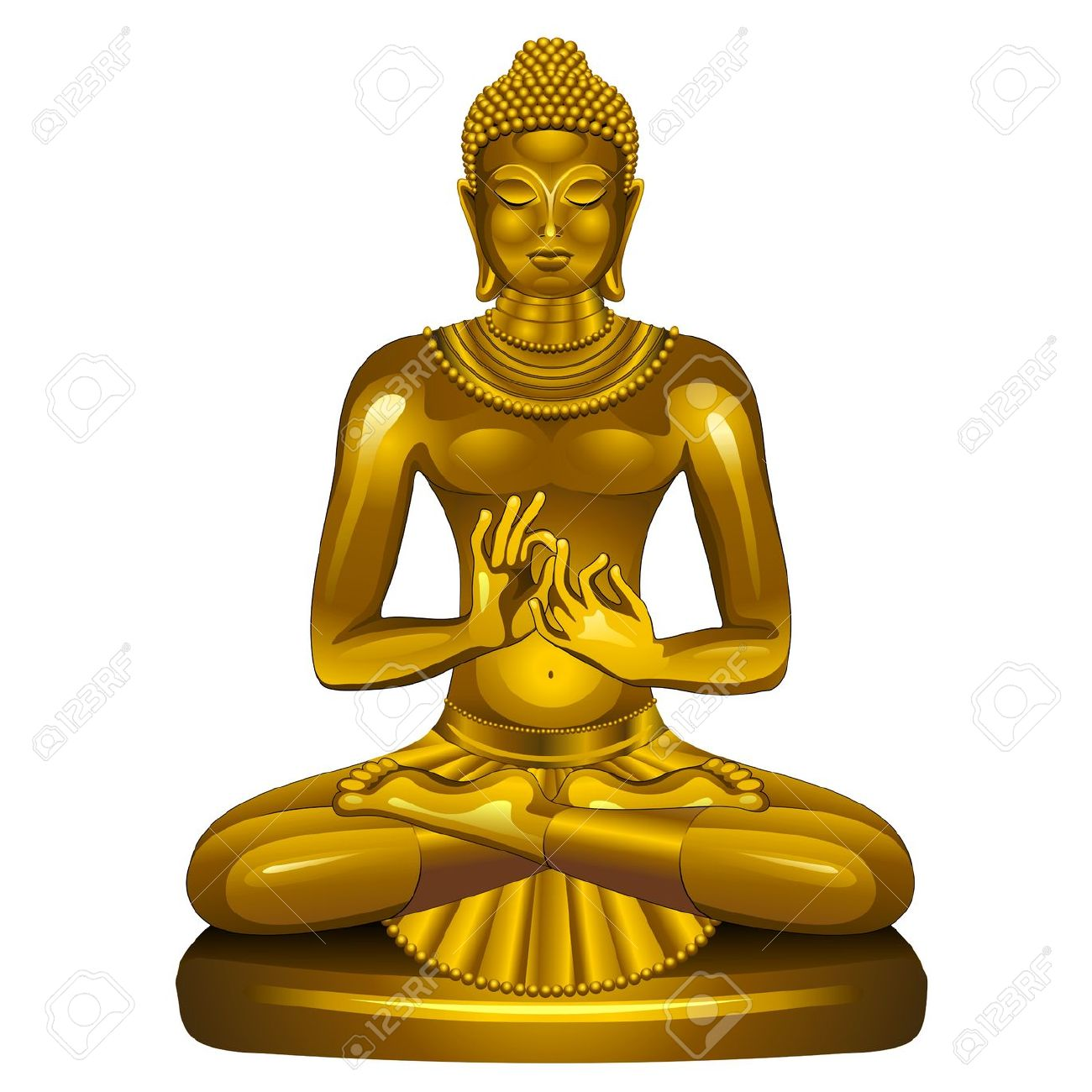 Gautam buddha live clipart.