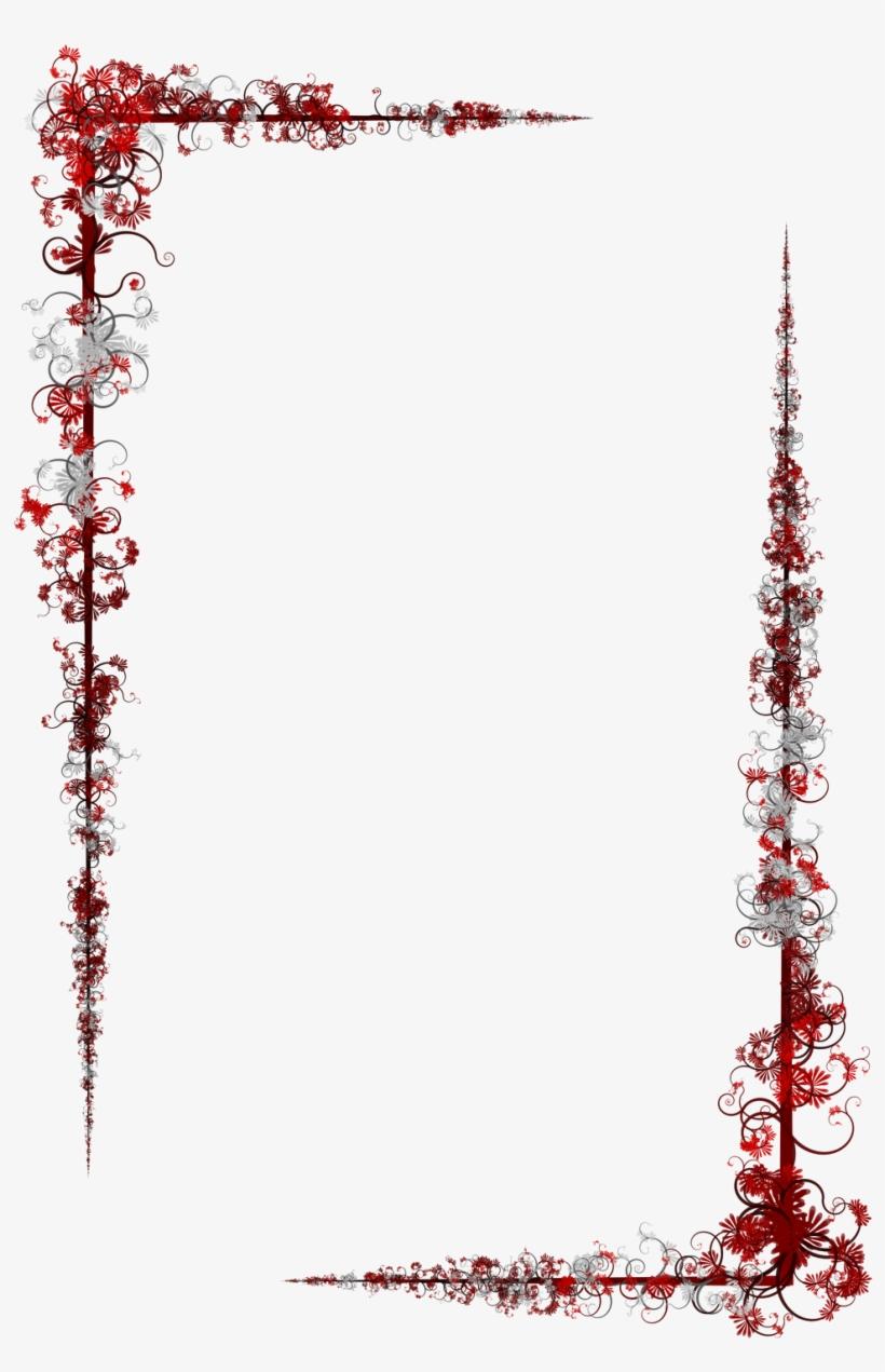 Floral Border Design Png Transparent PNG.