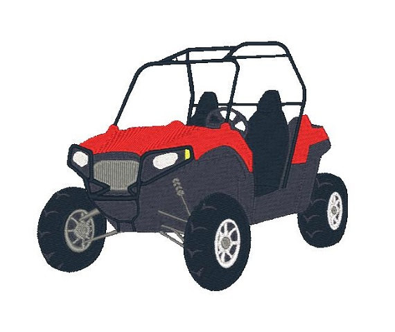 Side by Side Machine Embroidery Design Atv by EmbroidDesigns.