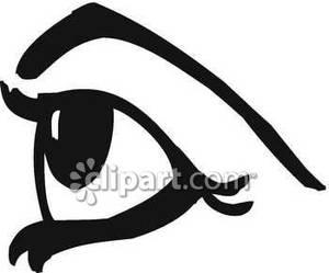 Eye clipart side.
