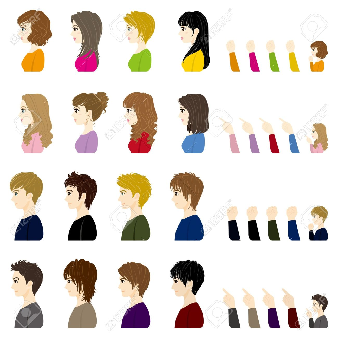 Side Face Clipart.