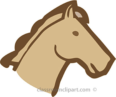 Horse face side clipart.