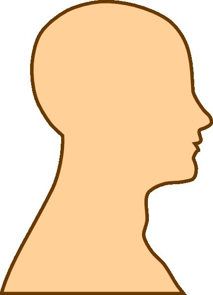 Side profile clipart.