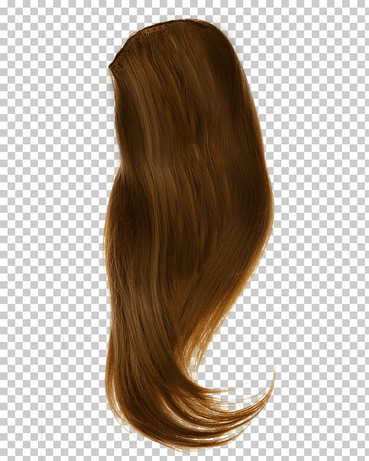 Hair Side, brown wig PNG clipart.