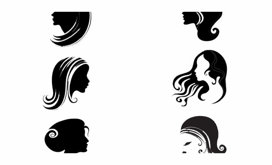 Black Hair Clipart Woman Side Face.