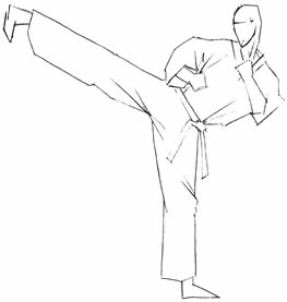 Side kick clipart #6