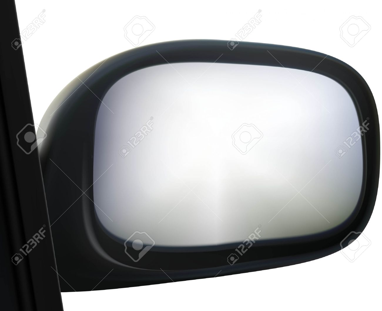 Car Side Mirror On White Background Royalty Free Cliparts, Vectors.
