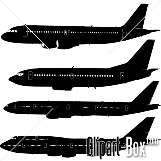 CLIPART PLANES SET SIDE VIEW.