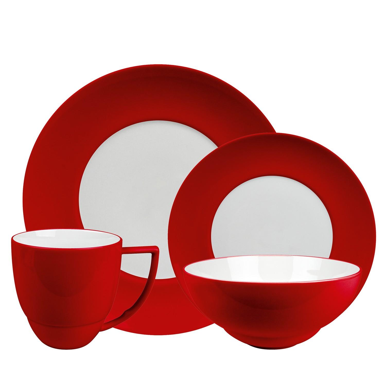 Uno Side Plate 21cm CHILI RED / WHITE.