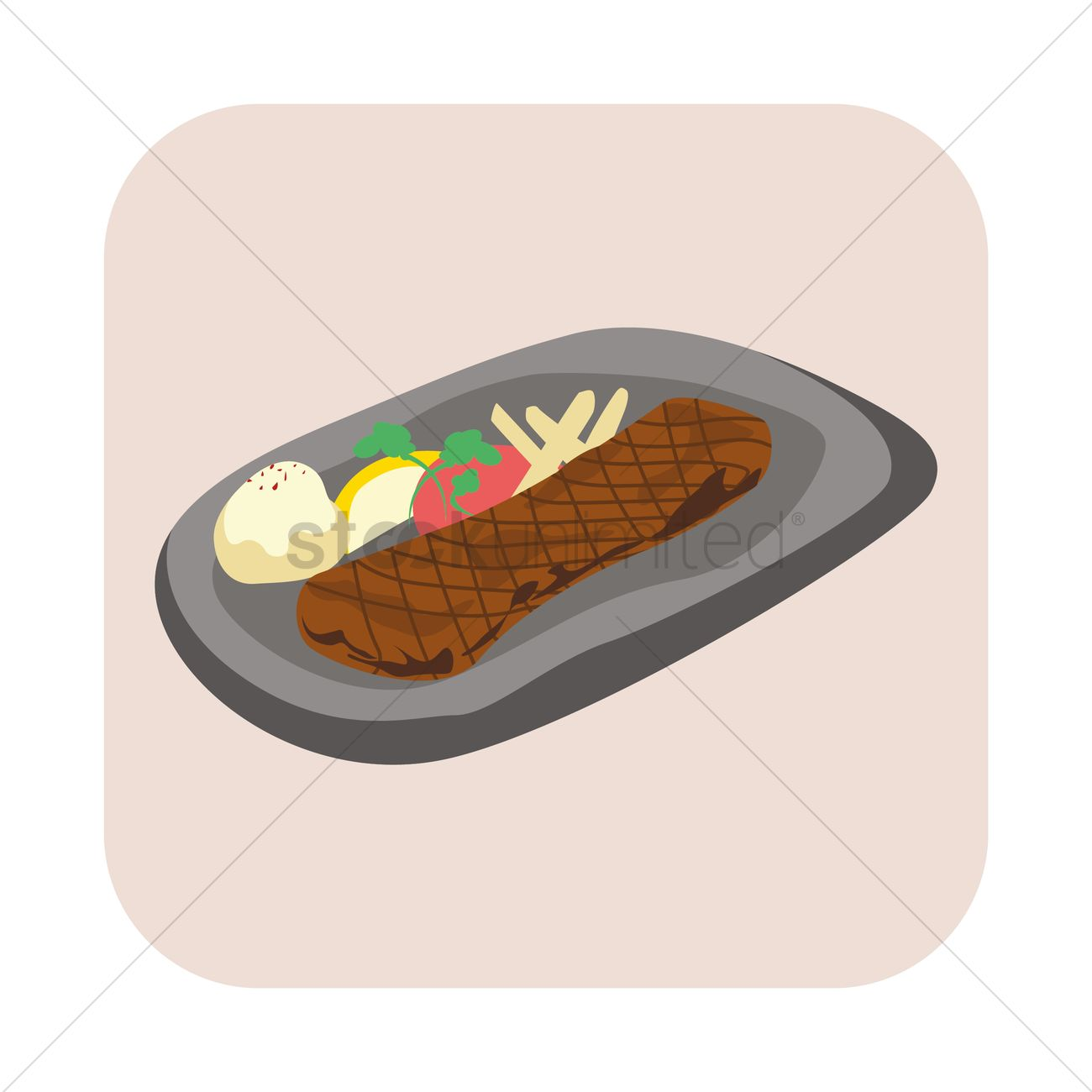Sizzling plate clipart.